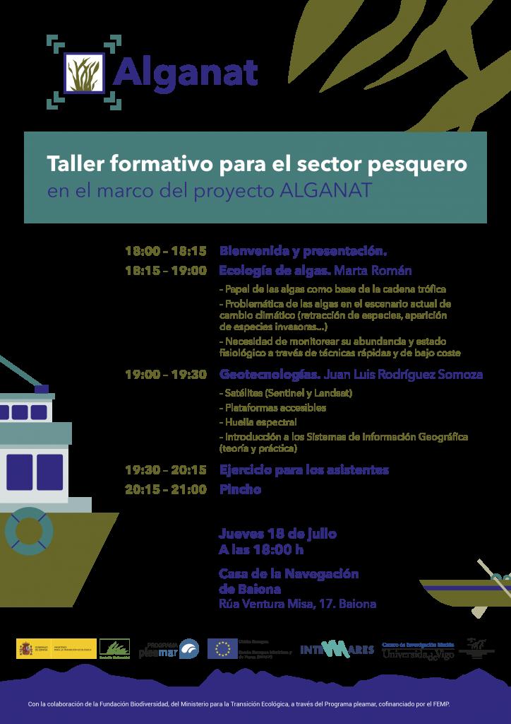 El proyecto Alganat organiza en Baiona un taller formativo para el sector pesquero